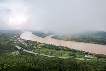 Landscape Mekong River  from mountain