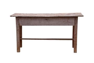 Old wooden school desk.