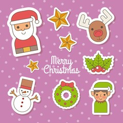 merry christmas celebration greeting invitation image vector illustration