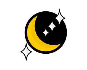 black circle moonshine icon vector