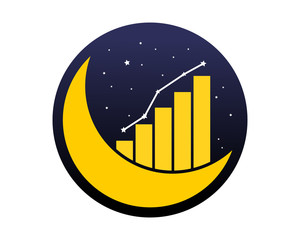 enhancement chart space crescent moon icon image