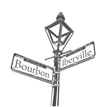 New Orleans Bourbon Street Streetlight Design