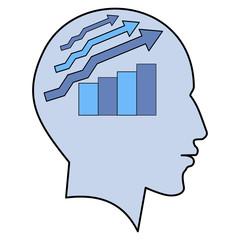 Potential idea human man head graph brain concept