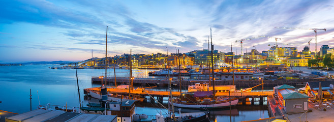 Port of Oslo city in Norway