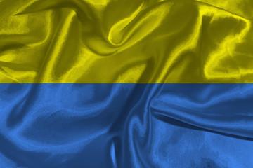 Ukraine national flag 3D illustration symbol