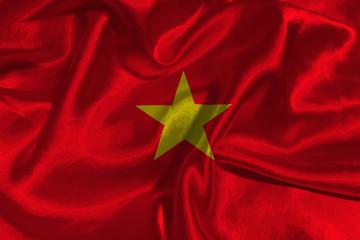 Vietnam national flag 3D illustration symbol.