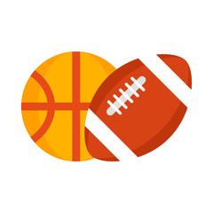 football and basketball balls.