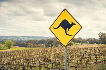Photo sur Aluminium Océanie Kangaroo road sign in Australia