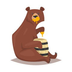 bear eating sweet honey