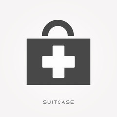 Silhouette icon suitcase