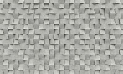 3d betonowe geometryczny tło - szare kostki betonu