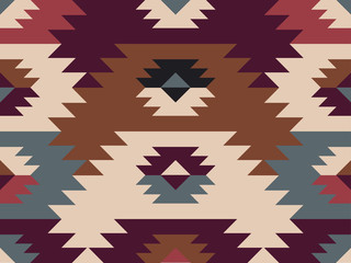 Abstract ethnic pattern. Background in navajo style