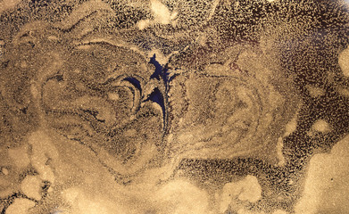 Marbled abstract background. Liquid marble pattern. Stone surface. Golden dust marble backdrop.