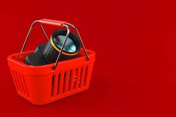 Camera with shopping basket