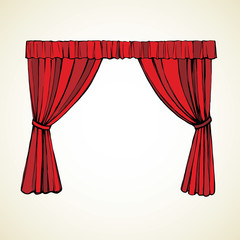 Curtain. Vector drawing
