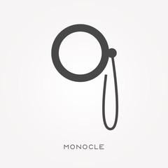 Silhouette icon monocle
