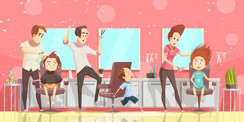 Hair Salon Background Illustration