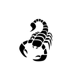 Scorpion icon in simple tattoo style,vector