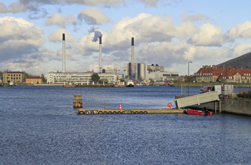 Industrial buildings in Copenhagen, Denmark