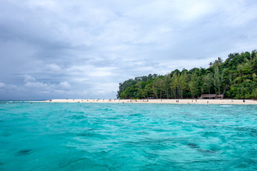 Beautiful sea beach in bamboo island