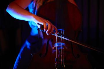 Cello Konzert Detail on Stage
