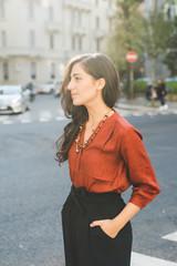 Young woman posing oudoor overlooking