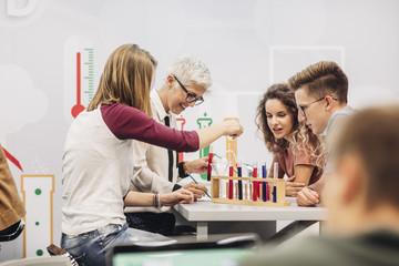 High School Students Having Chemistry Class