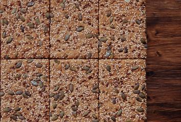Crunchy crispbread  background