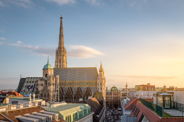 Self adhesive Wall Murals Vienna Vienna Skyline with St. Stephen's Cathedral, Vienna, Austria