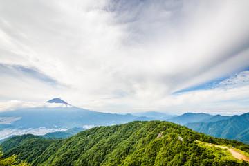三つ峠から見る富士山