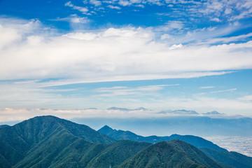 三つ峠から見る南アルプス