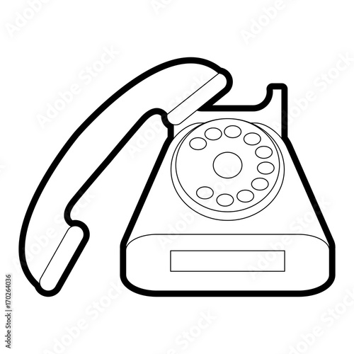 retro phone of vintage call and telephone theme isolated design Retro Arrow retro phone of vintage call and telephone theme isolated design vector illustration