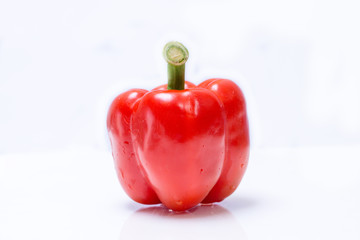 red pepper isolate on white background