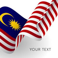 Malaysia flag. Patriotic design. Vector illustration.