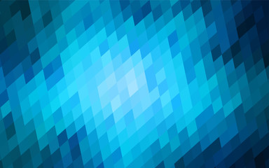 Dark BLUE vector abstract perspective background.