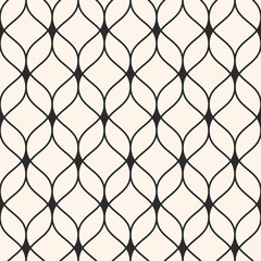 Vector seamless pattern. Abstract background, thin wavy lines, delicate lattice, mesh