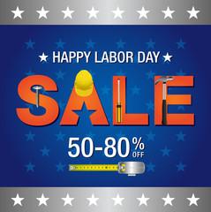 Labor day sale banner