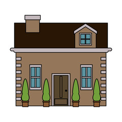 brick house or home icon image vector illustration design