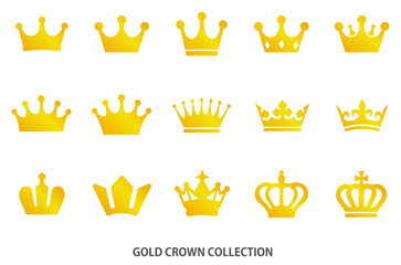 Gold crown icon [vector]