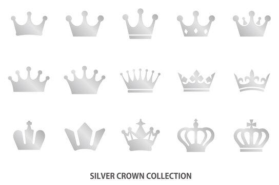 Silver crown icon [vector]