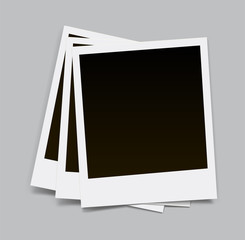 Photo frame with shadow on an isolated background - stock vector.