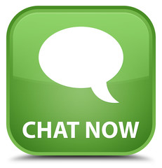Chat now special soft green square button