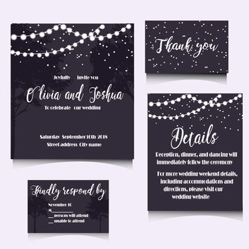 WEDDING INVITATION TEMPLATE DESIGN.
