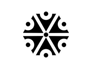 Symbol of the god Perun. Slavic mythology, the god of lightning. Vector illustration