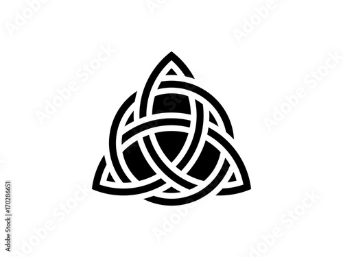 Triquetra Trinity Knot Celtic Symbol Of Eternity Vector