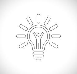 person inside lightbulb icon