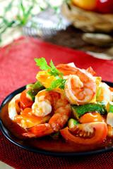 Fried with shrimp