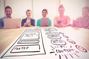 Composite image of web design process
