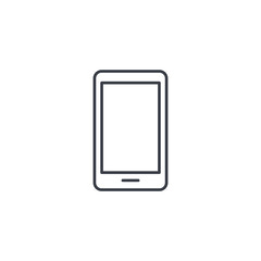 smartphone, mobile phone thin line icon. Linear vector illustration. Pictogram isolated on white background