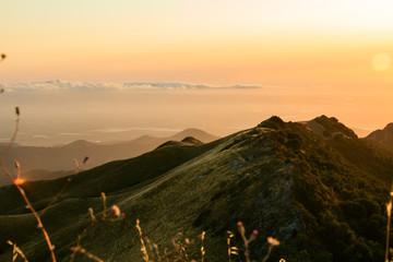 fremont peak state park mountain sunset orange sky